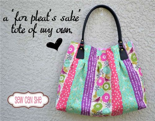 We are in love with the echino handbag made by Sew Can She