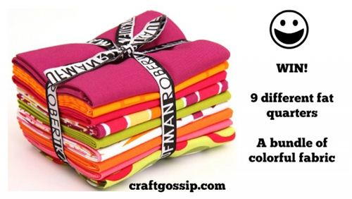 Win a Fat Quarter bundle on craftgossip.com from modes4u.com