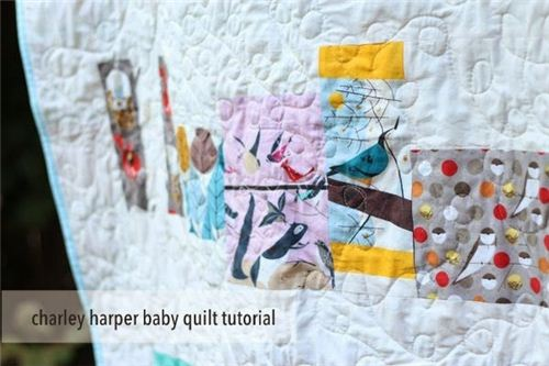 Tutorial for a quilt by Plum and June with birch fabrics designed by Charley Harper