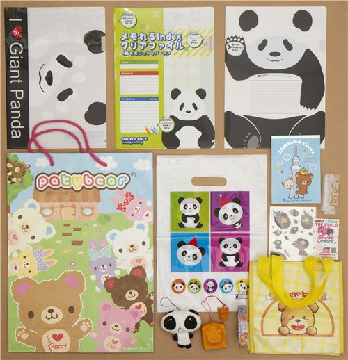 The winner of our Facebook bear giveaway will get all these kawaii things