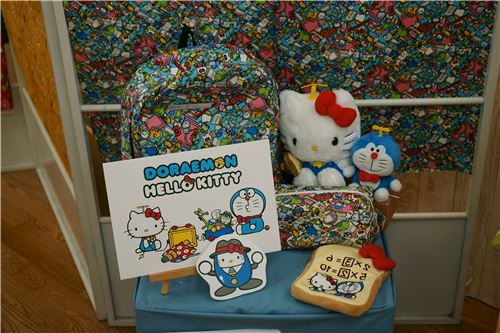 Hello Kitty and Doraemon