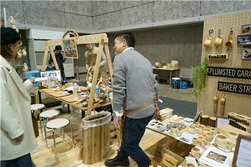 Attendees were able to participate in making hand-crafted items