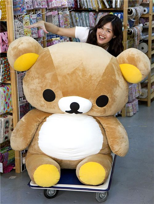 Maggie has to drive lazy Rilakkuma bear during the interview