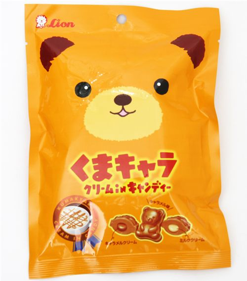 cute japanese bear caramel candy