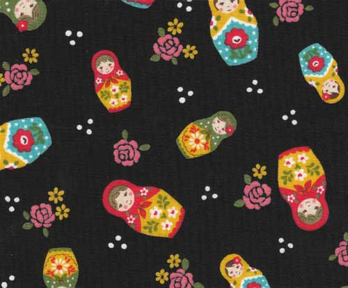 Matryoshka doll Kokka fabric