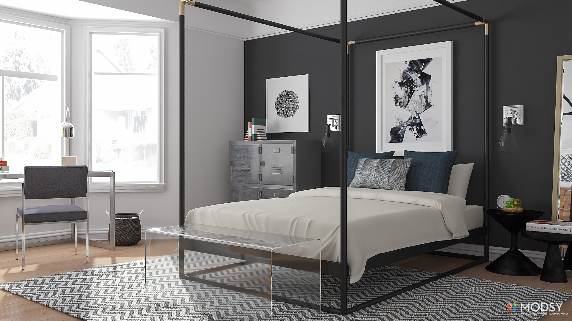 Designing an Industrial Bedroom with a Minimal Twist