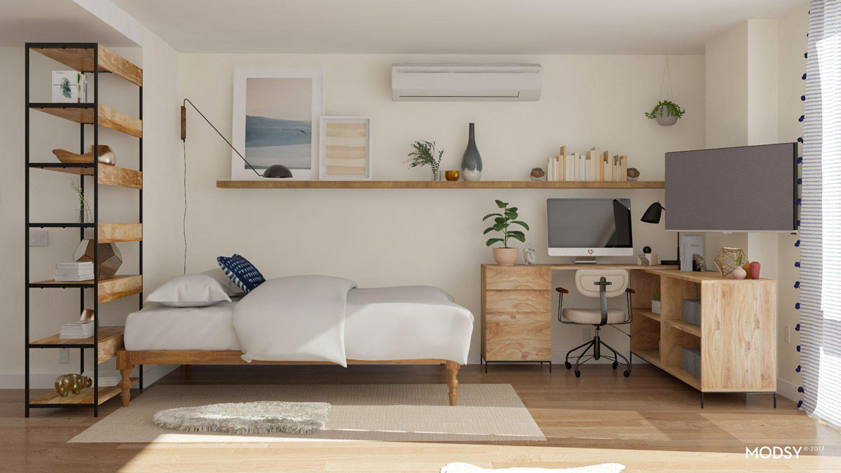 studio apartment layouts Archives  Modsy Blog