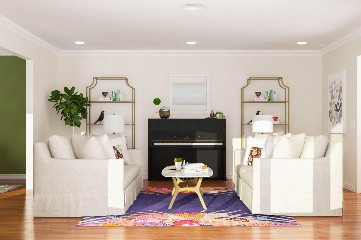 Living Room Layout With Upright Piano. plan how