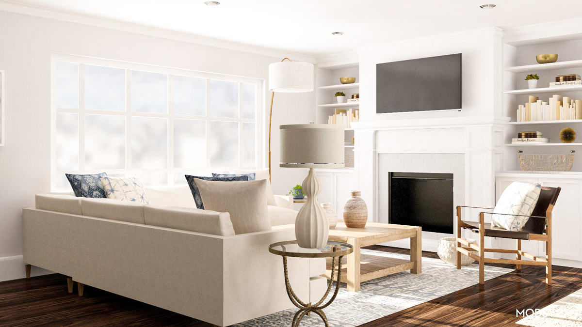 sofa or sectional for an open living space