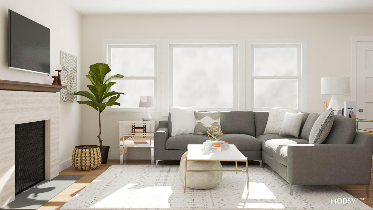 how to design my living room gray couch modsy story designing a new home before moving in