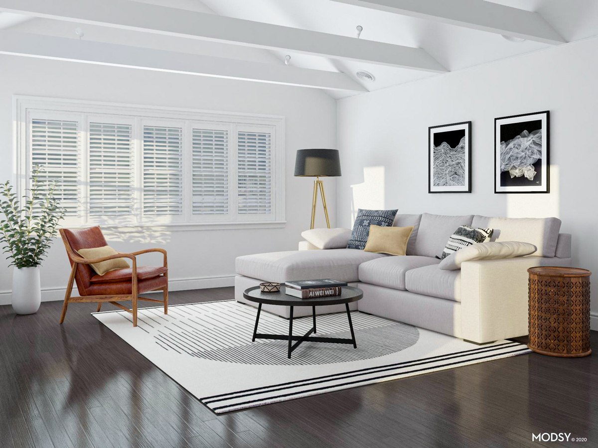 How To Find The Right Rug Size For Your Living Room Modsy Blog