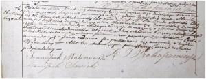 Akt zgonu Domicelli Wysockiej z Nikisiałki Małej