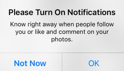 Instagram post notifications