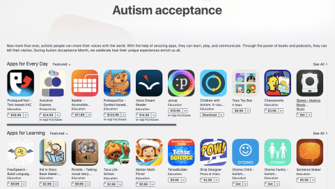 apps for autism acceptance
