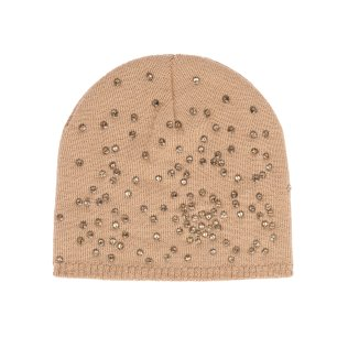 Azeeza Camel & Gold Abstract Scattered Beanie, $98