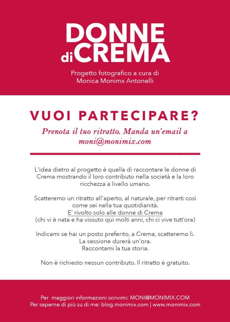 Ritratto femminile: le donne di Crema, un progetto a cura di Monica Monimix Antonelli