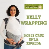 Bellywrapping Doble cruz a la espalda, fular rígido y largo