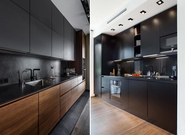 armário de cozinha preto