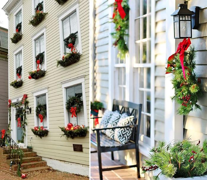 decoracao de Natal nas fachadas guirlandas