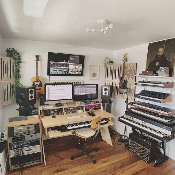 montar estúdio musical móveis