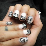 lace & corset manicure milly