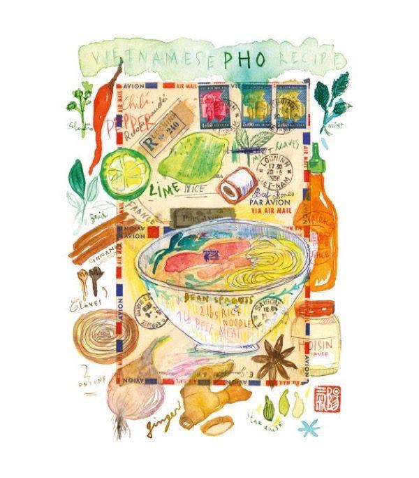 Lucile Prache Watercolor Illustrations
