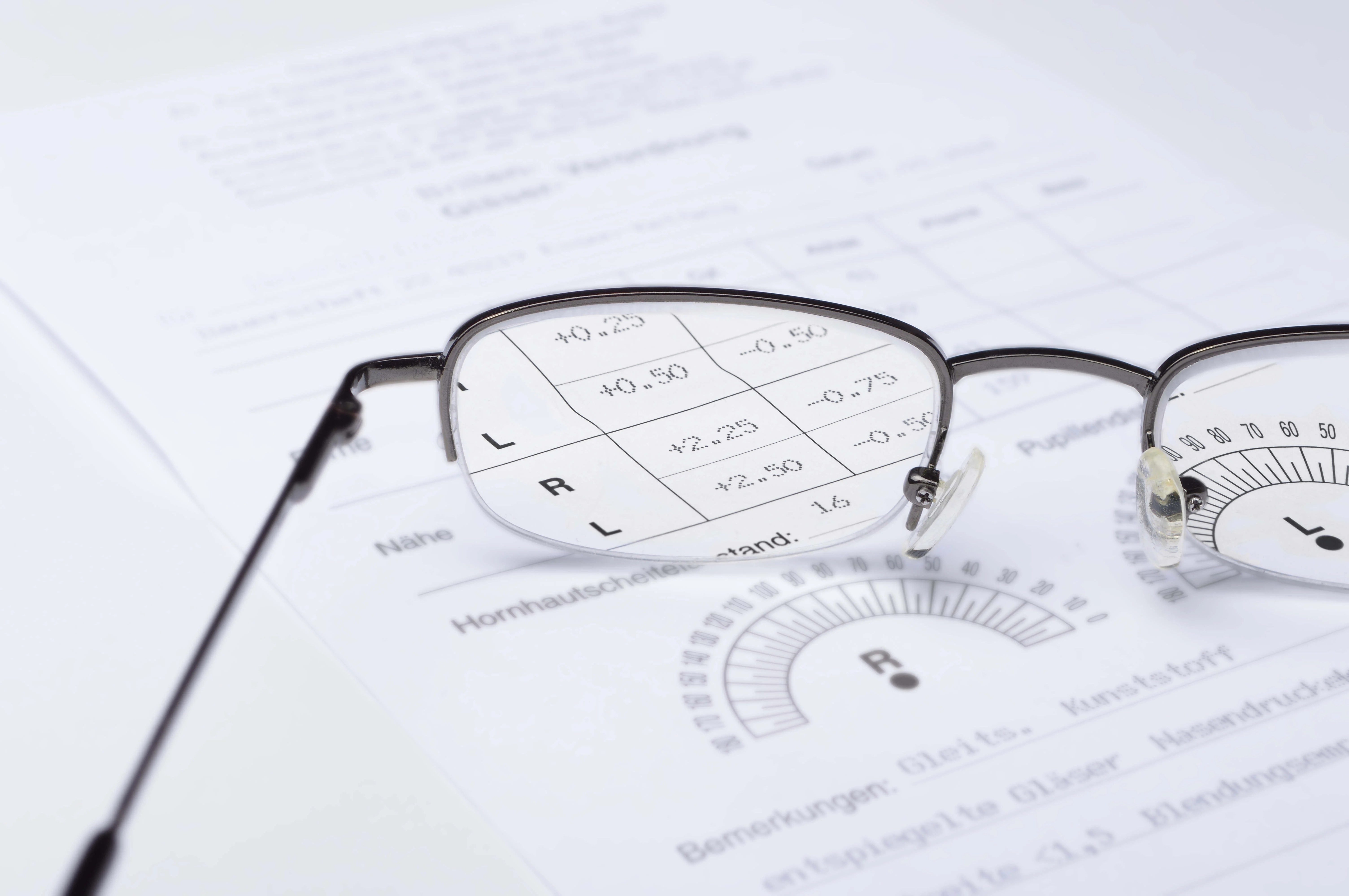 What do the eye prescription numbers mean?