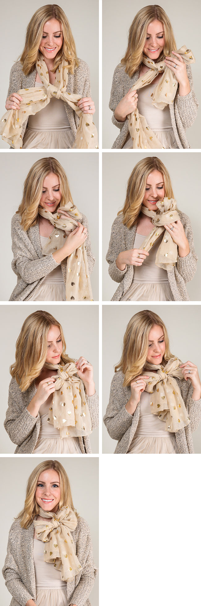 How to Tie A Scarf, 9 Ways