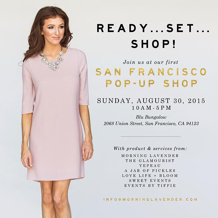 morning lavender pop up, cute women clothes, pop up shop san francisco