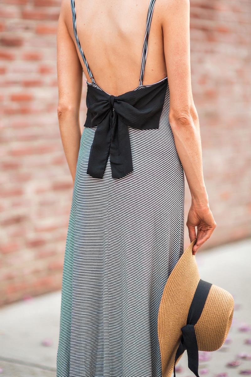 morning lavender cute stripe dresses for women - 84