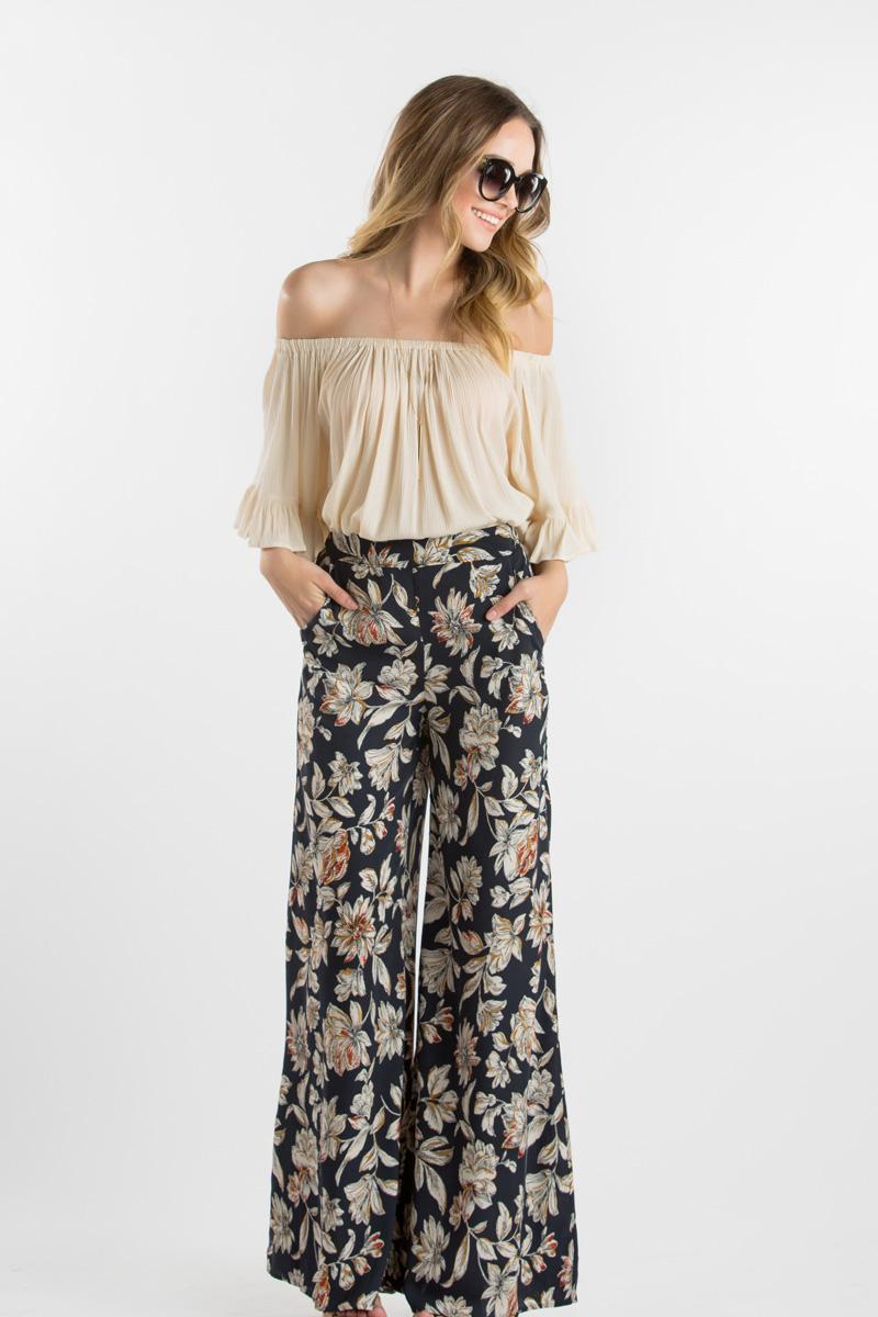 morning lavender cute wide leg pants for women - 103