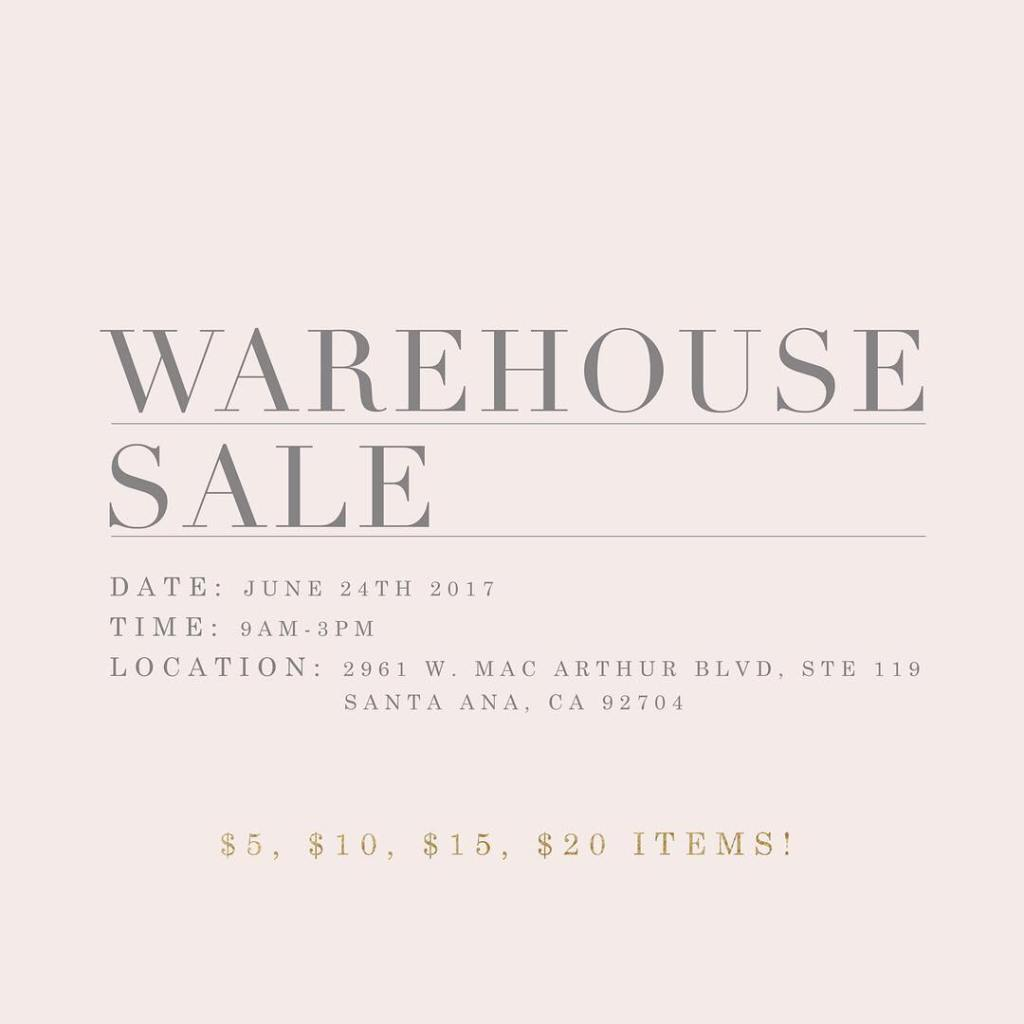 more day until our warehouse sale tomorrow! Tag ahellip