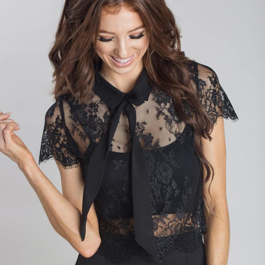 The NEW Juliette Lace Top has the cutest front bowhellip