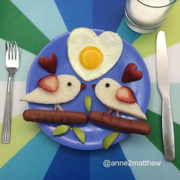 情人節各式創意早餐