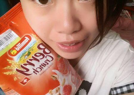 【麥片女孩 蠶飽飽 】噢,瑞士全家草莓,麥片再也不是單調的健康食品!!!