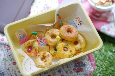 【 麥片食譜  】天涼好個秋,野餐料理之甜甜圈造型蔬菜烘蛋