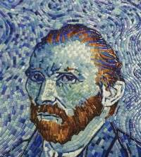 Van Gogh Self-Portrait Mosaic | How To Mosaic