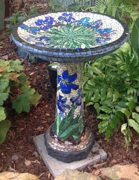 Mosaic Bird Bath How To Mosaic