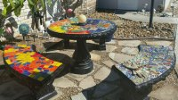 Glass or Ceramic Tile for Mosaic Patio Table | How To Mosaic