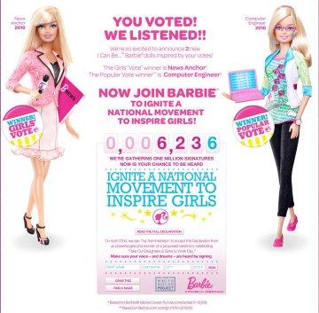 Barbie Journaliste et Ingénieur Informatique