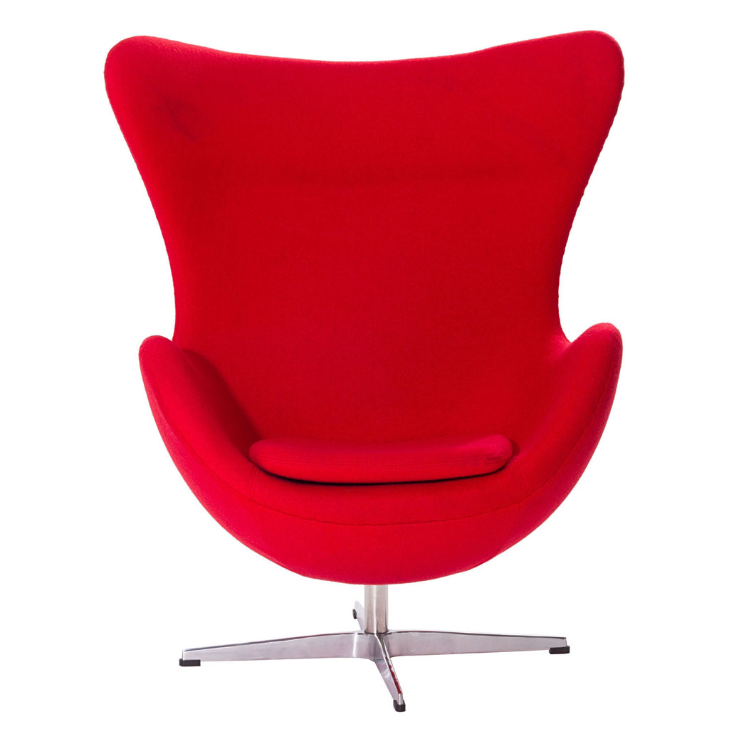 Egg Chairs Cheap Egg Chair New Production Upholstered With Red Fabric