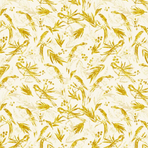 Illustrated birds pattern