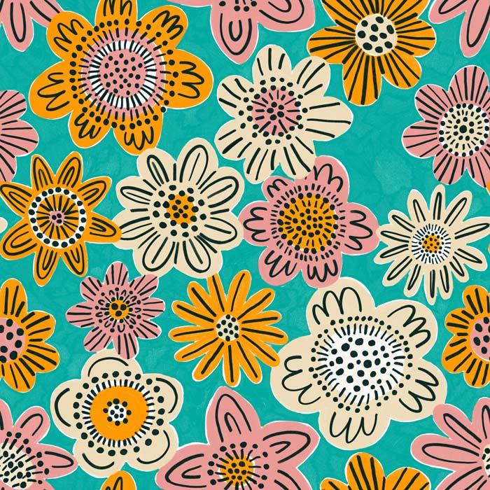 Kleurrijk Marrakech - Design stof