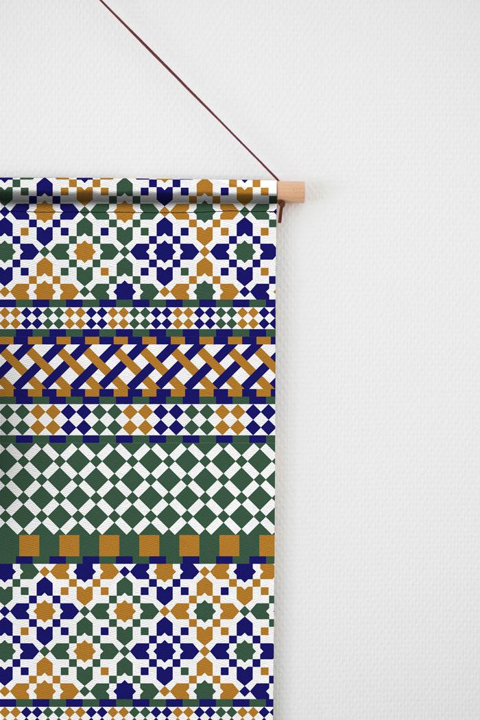 Mozaïek textielposter