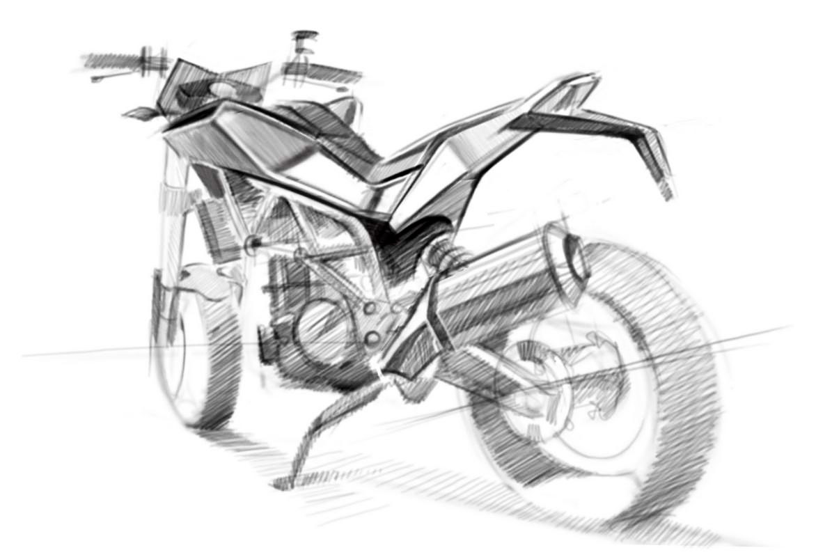 Official Sketches of 900cc Husqvarna Streetbike