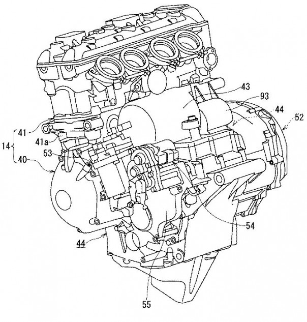Suzuki Patents Hybrid Motorcycle with Semi-Automatic