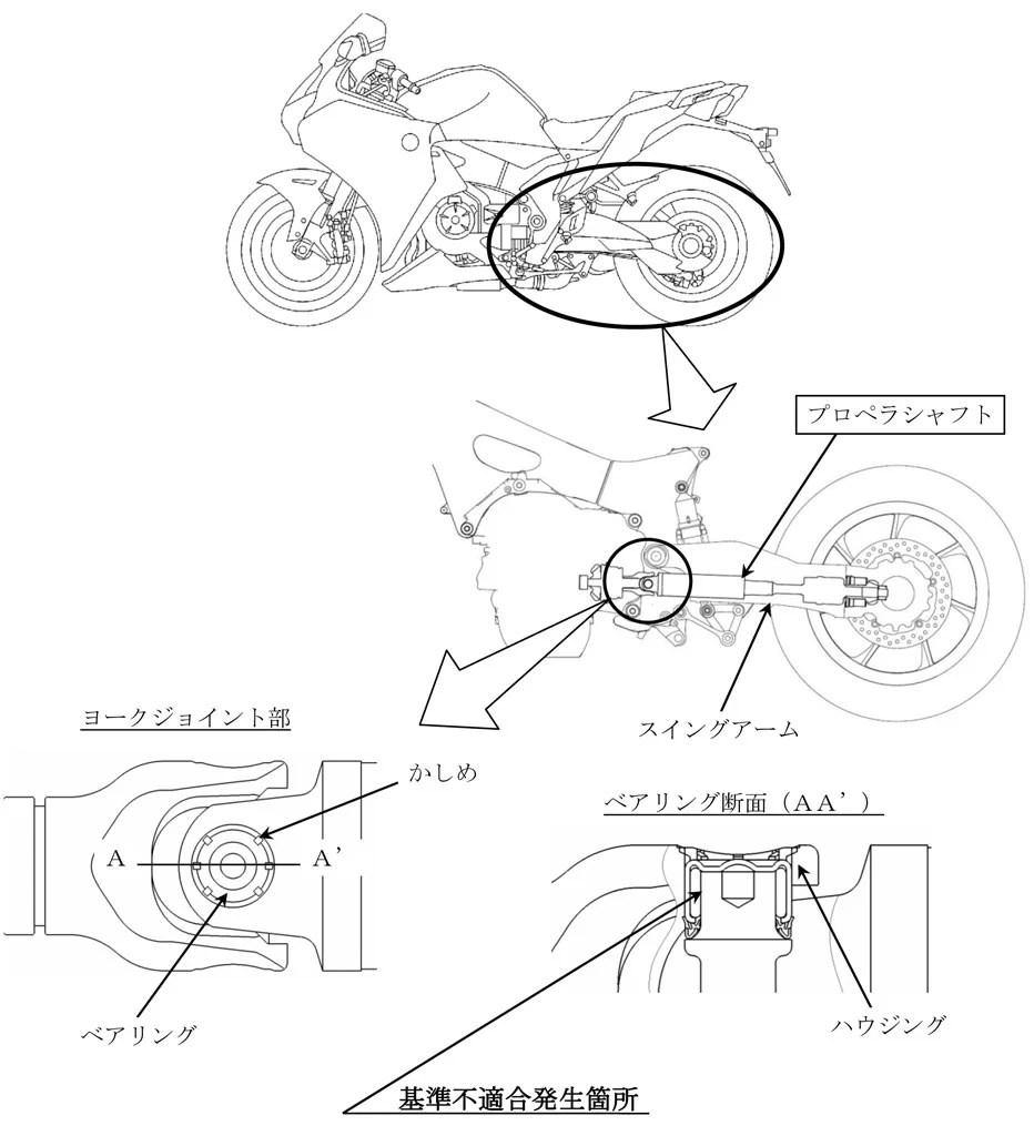 2010-2013 Honda VFR1200F Recalled for Driveshaft Issue