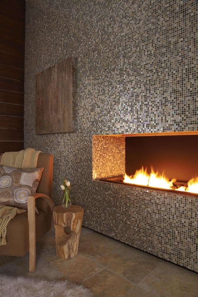 Eclectic mosaic tile fireplaces to adorn your home Decor  Mozaico Blog