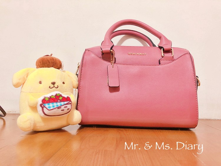 ROBINMAY 赫本波士頓手提包,每個女孩都需要的休閒成熟玫瑰粉色 OL 包 2