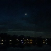 Moon lit sky
